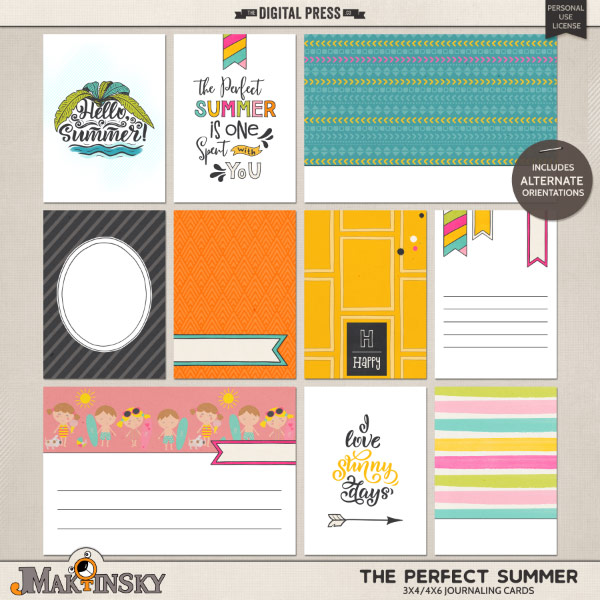 The Perfect Summer | Journal cards
