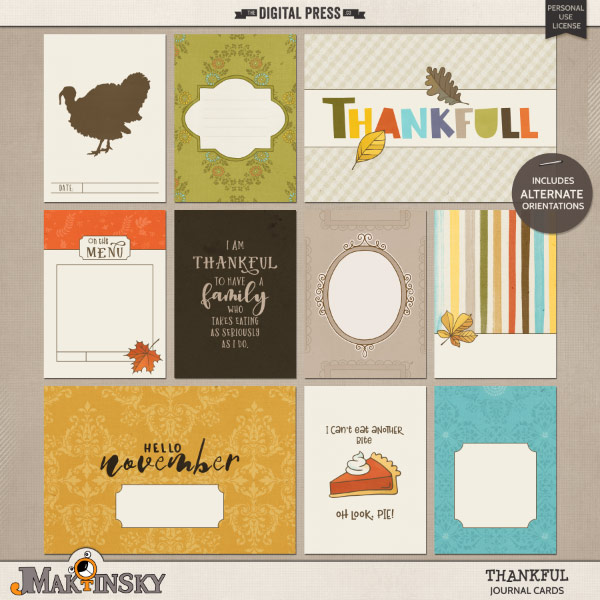 Thankful | Journal cards