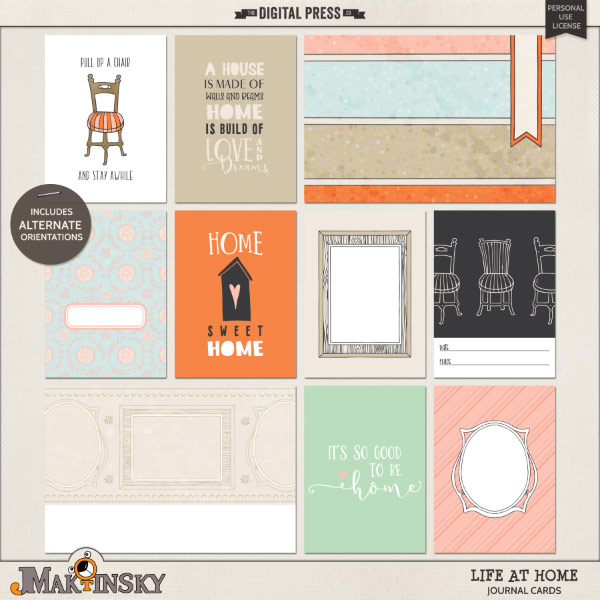 Life at Home | Journal cards