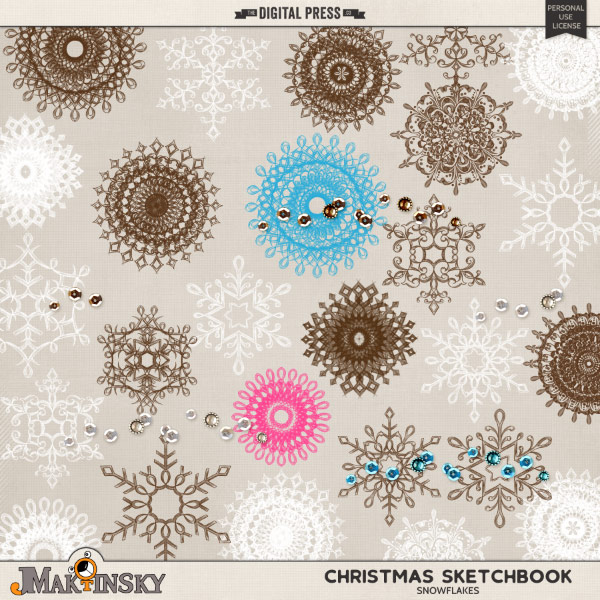 Christmas Sketchbook:: snowflakes no.2