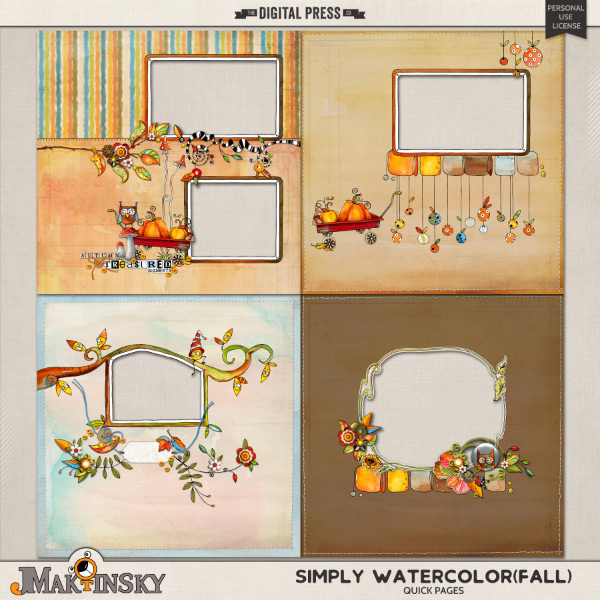 Simply Watercolor{Fall}   Quick Pages