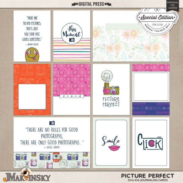 Picture Perfect | Journal cards