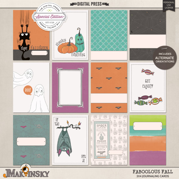 Faboolous Fall | Journal cards