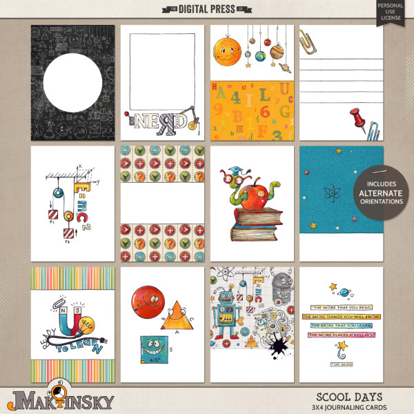 Scool Days | Journal cards