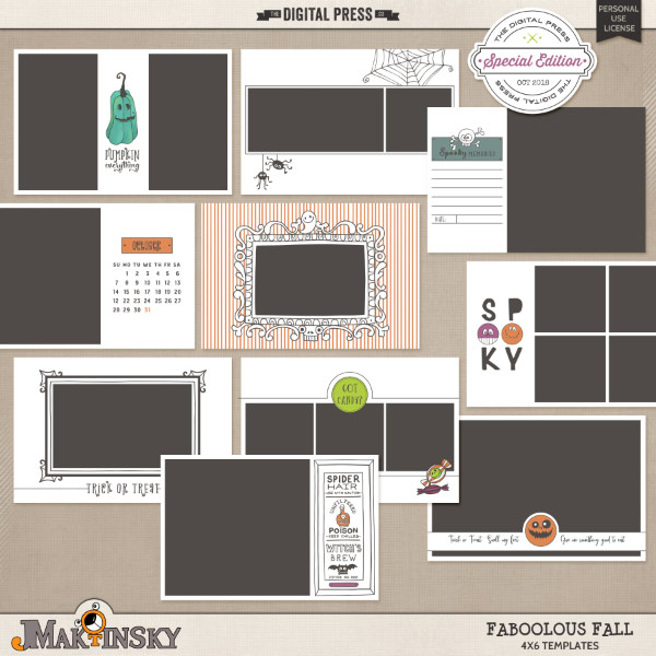 Faboolous Fall | 4x6 templates