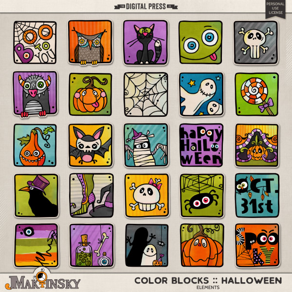 Color Blocks :: Halloween