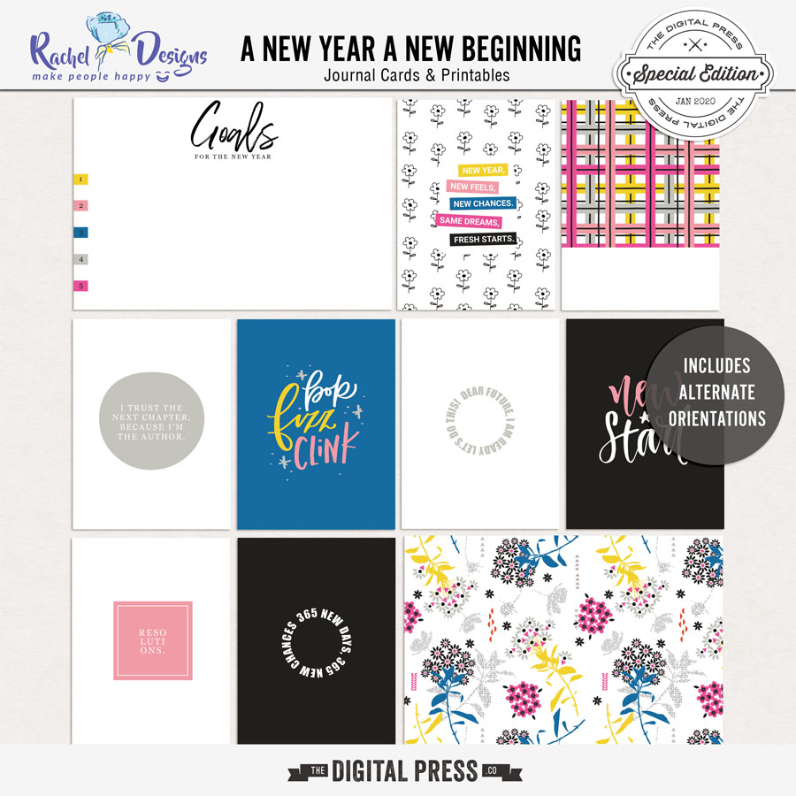 A New Year A New Beginning | Pocket Cards