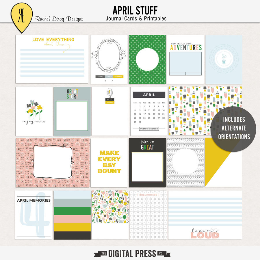April Stuff | Journal cards