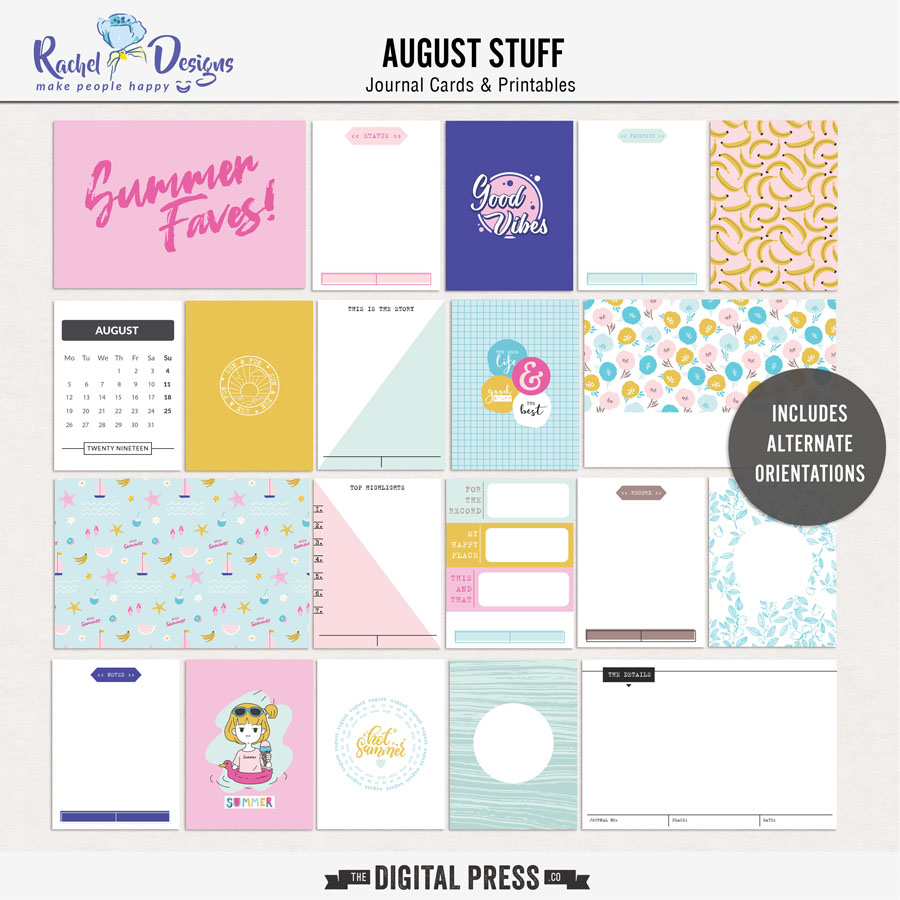 August Stuff | Pocket Cards