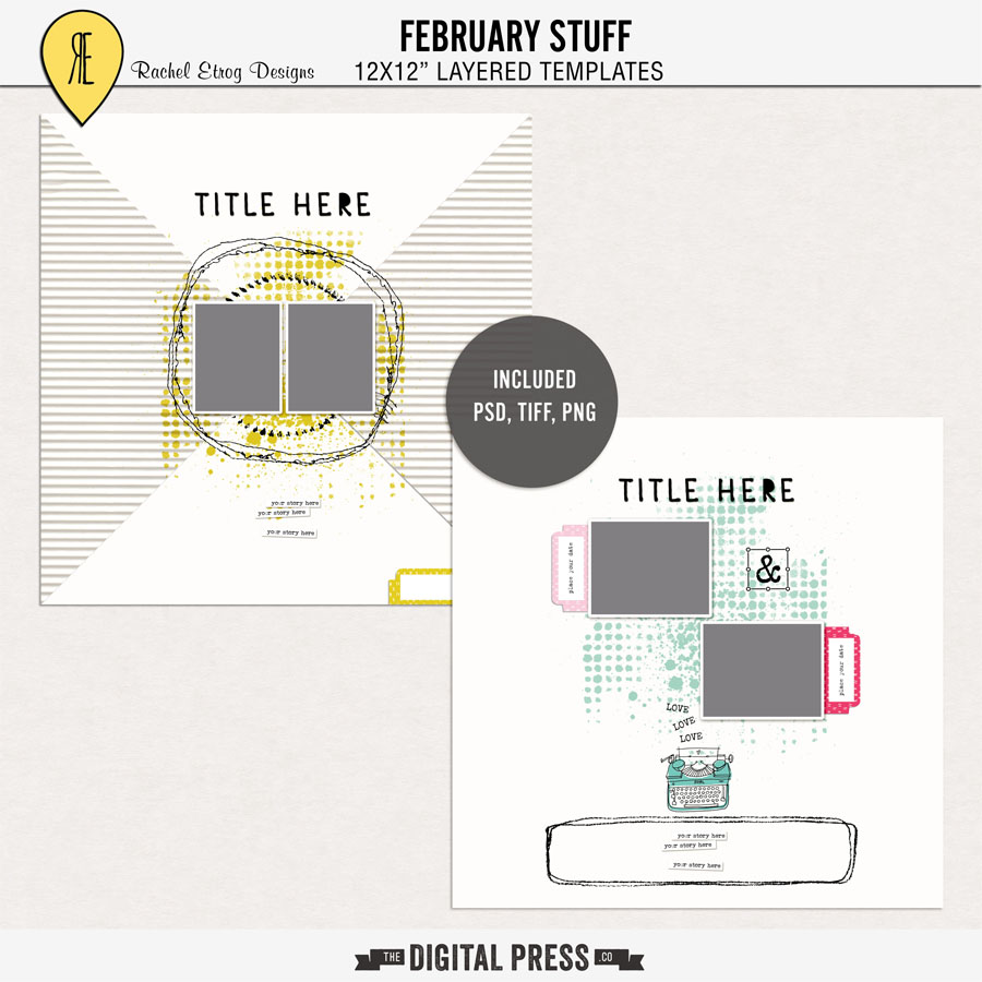February Stuff | Layout Template