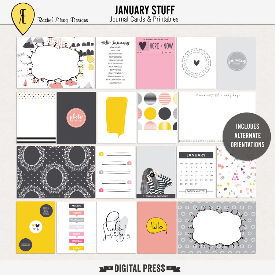 January Stuff | Journal Cards