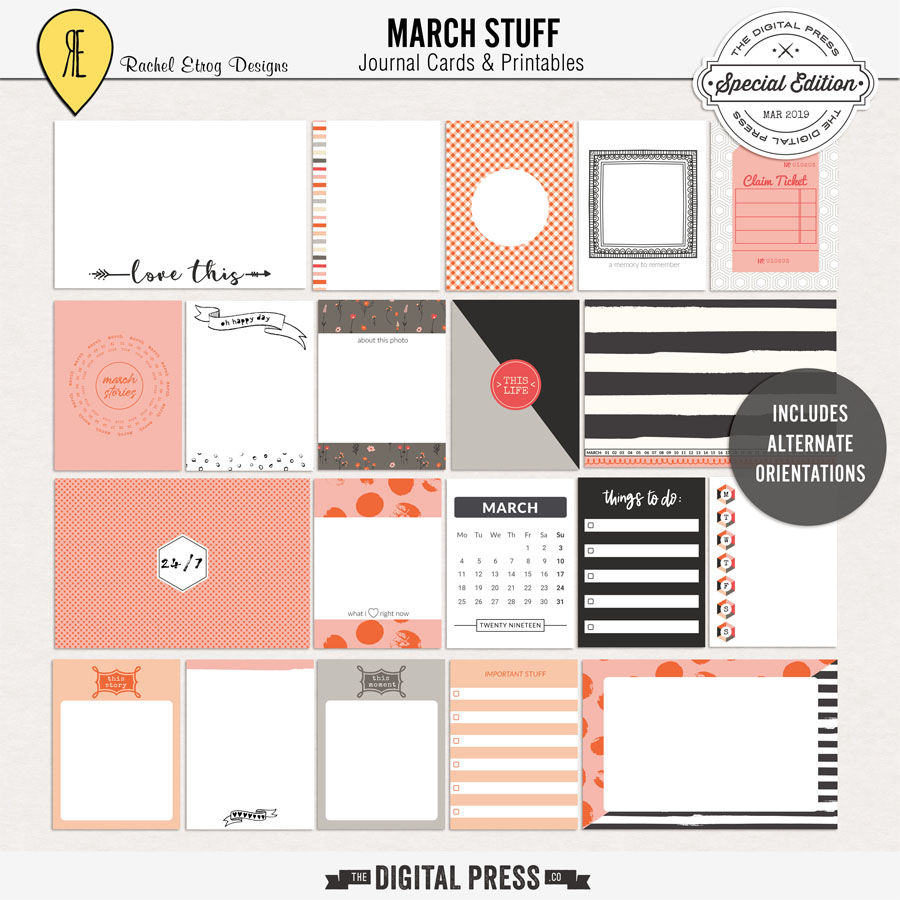 March Stuff | Journal Cards