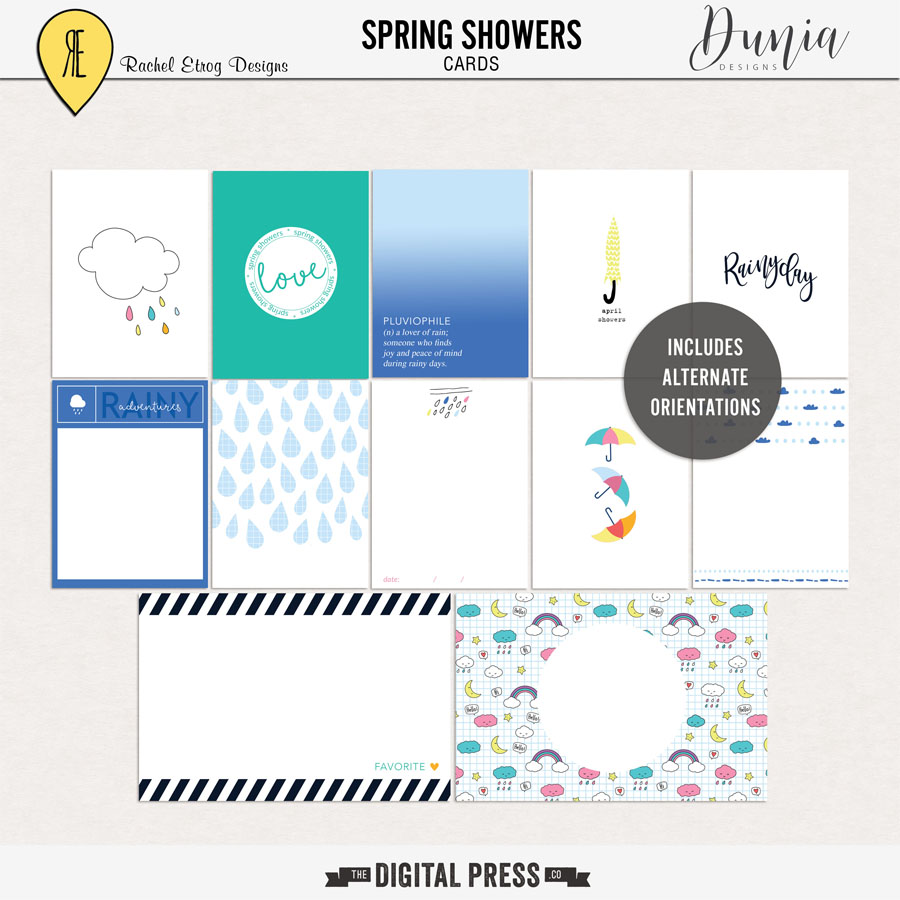 Spring Showers Collab | Cards