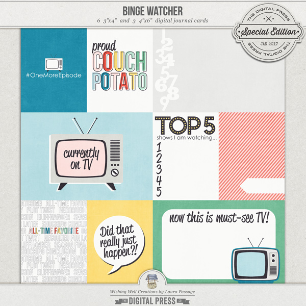 Binge Watcher | Journal Cards