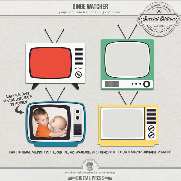 Binge Watcher | TV Frame Templates