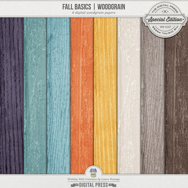 Fall Basics | Woodgrain Paper