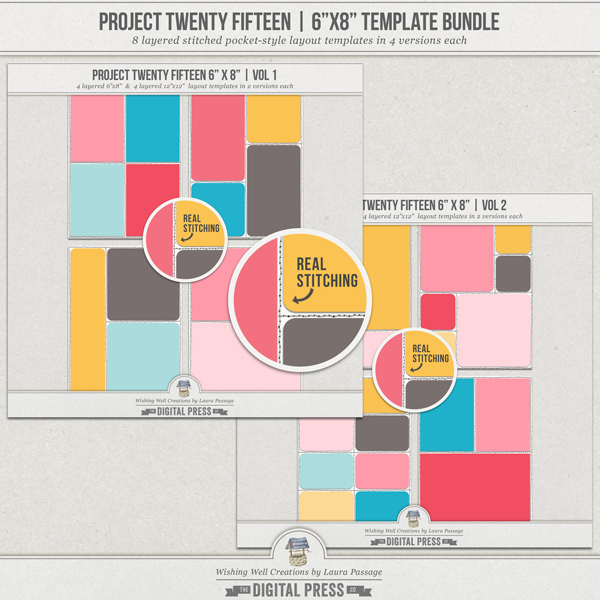 "Project Twenty Fifteen | 6""x8"" Template Bundle"