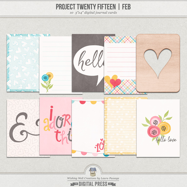 Project Twenty Fifteen | February 3x4 Journal Cards