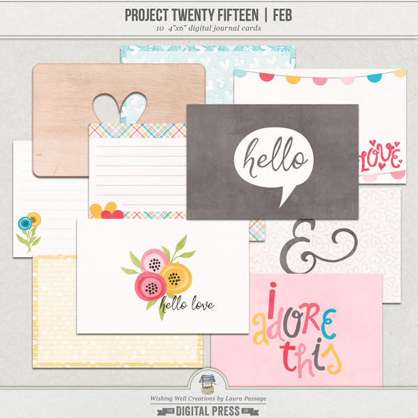 Project Twenty Fifteen | February 4x6 Journal Cards