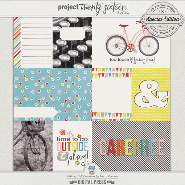 Project Twenty Sixteen | April Journal Cards