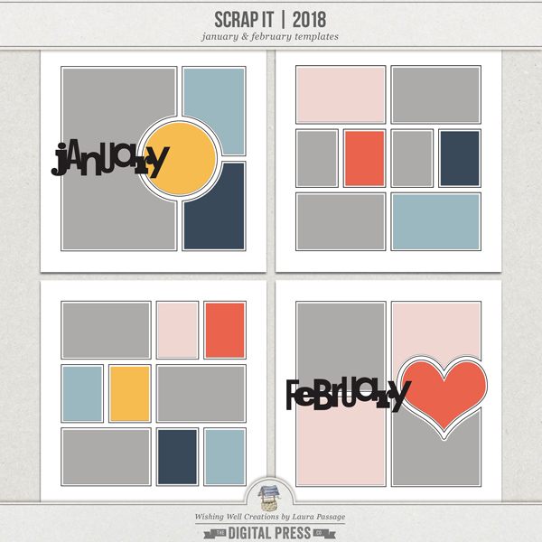 Scrap It | 2018 January & February Templates