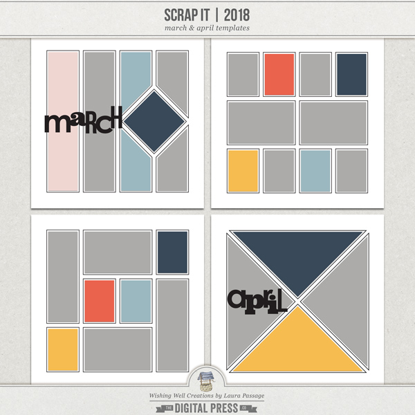 Scrap It | 2018 March & April Templates