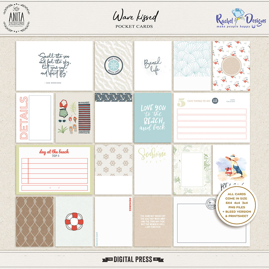 Wave Kissed | Pocket Cards