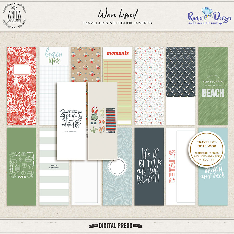 Wave Kissed | Travelers Notebook Inserts