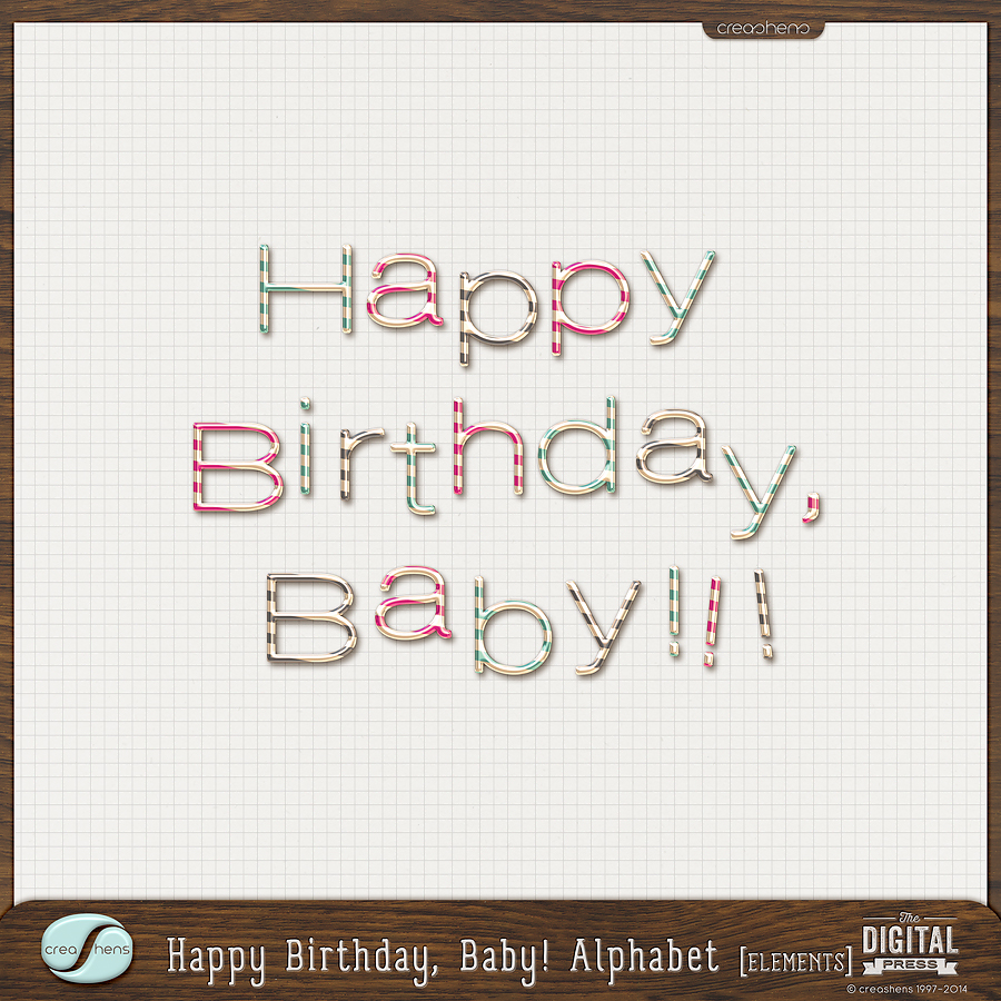 Happy Birthday, Baby! Alphabet