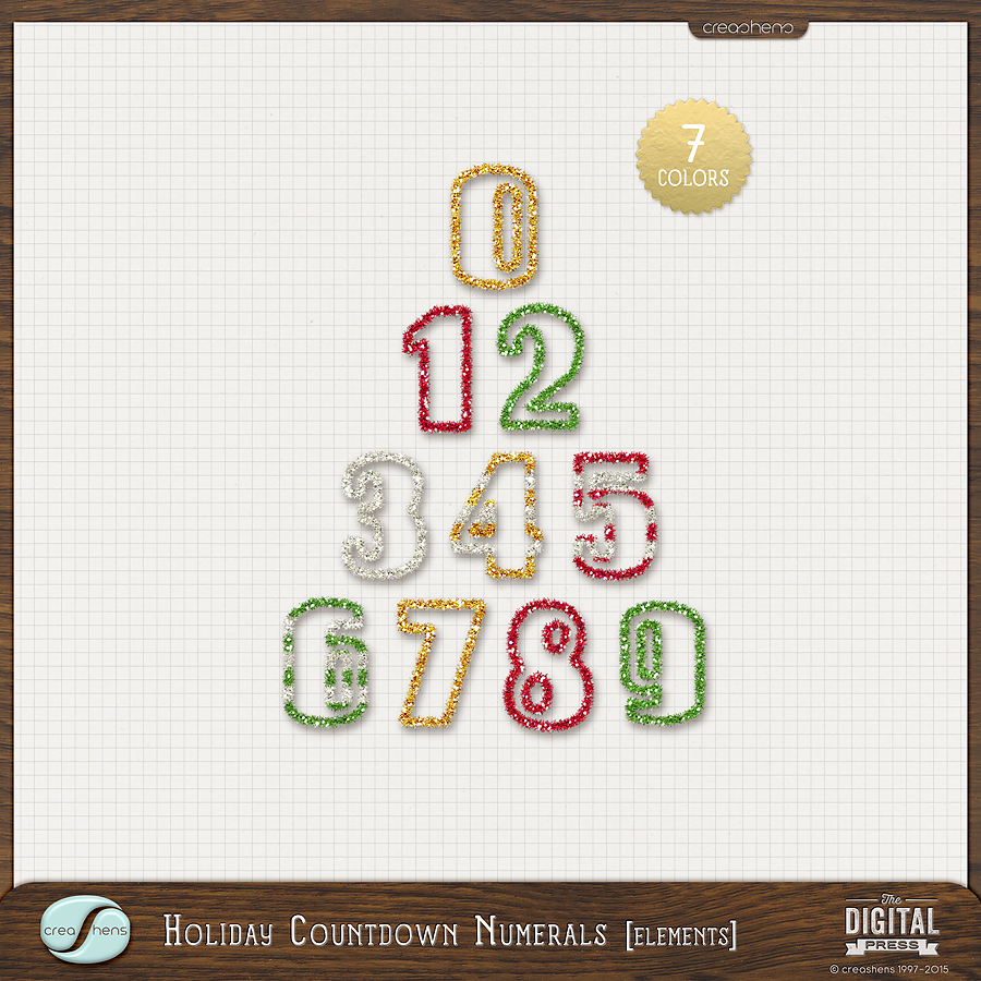 Holiday Countdown Numerals