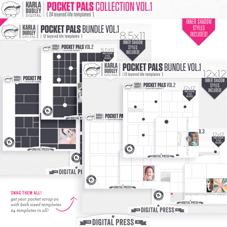 Pocket Pals Templates Collection Vol.1 | build your collection