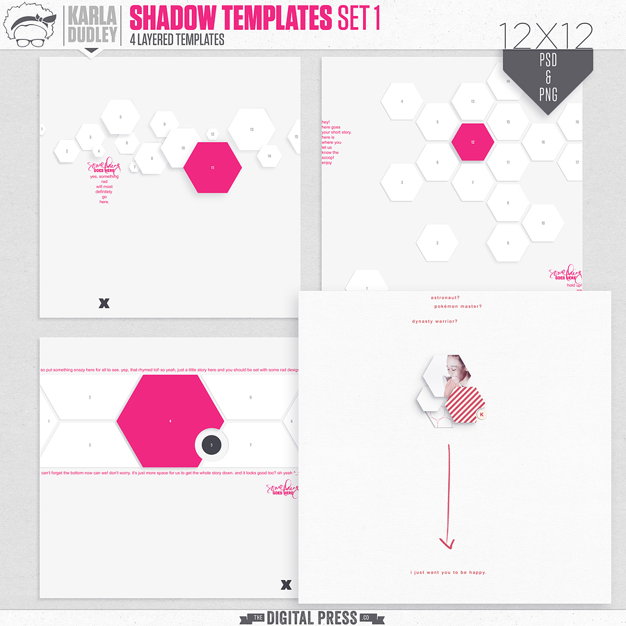 Shadow Templates | set 1