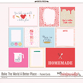 Bake The World A Better Place | Pocket Cards