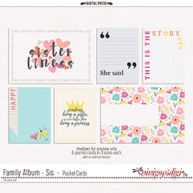 Family Album - Sis | Pocket Cards