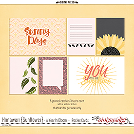 Himawari {Sunflower} | Pocket Cards