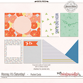 Hooray, It's Saturday! | Pocket Cards