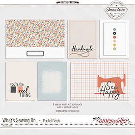 What's Sewing On | Pocket Cards