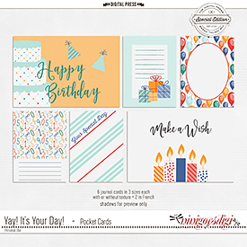 Yay! It's Your Day! | Pocket Cards