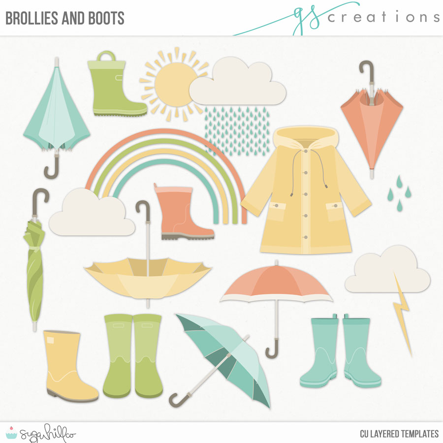 Brollies and Boots Layered Templates (CU)