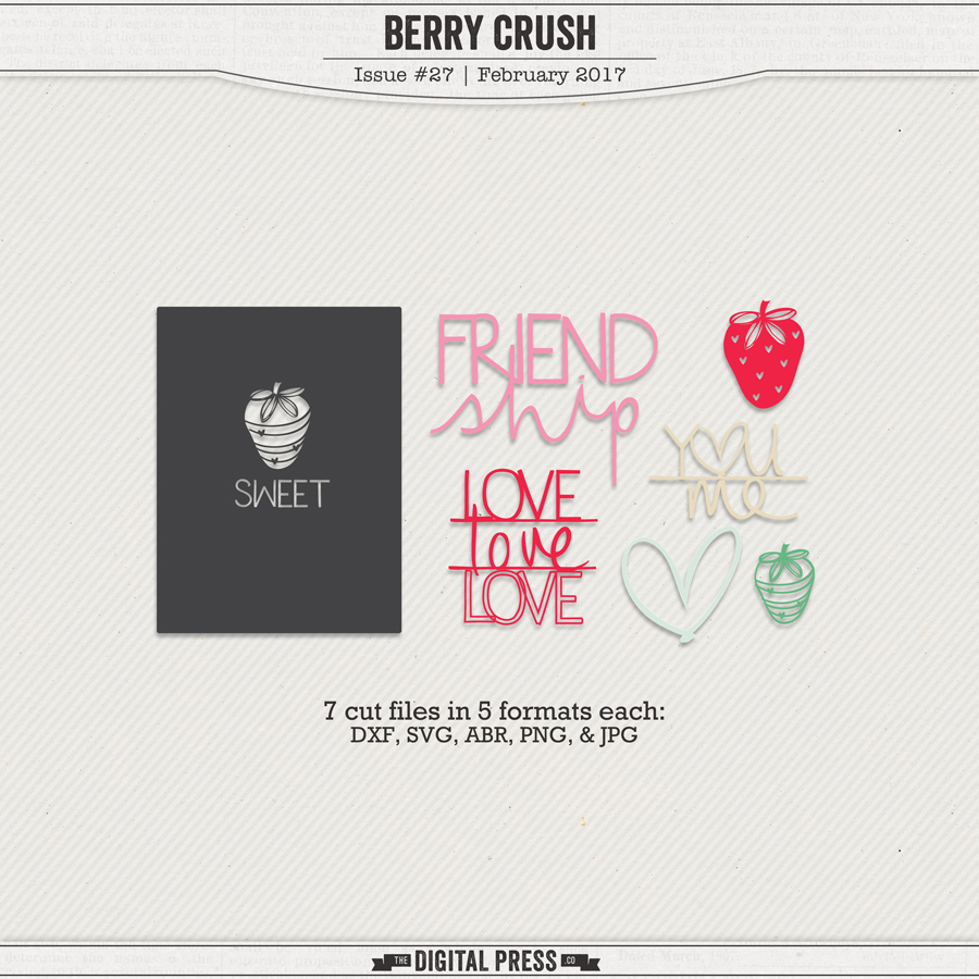 Berry Crush | Hybrid Cut Files