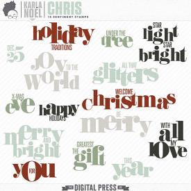 Holiday 2017 | Chris | sentiment stamps