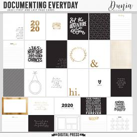 Documenting Everyday 2020 | First and Last Page Cards