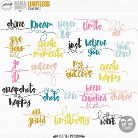 Limitless | stamp sheet