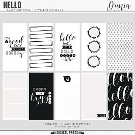 Hello | Black and White Traveler's Notebook