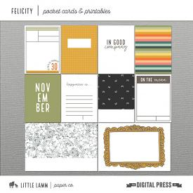 Felicity | Pocket Cards and Printables