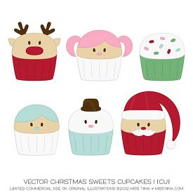 Christmas Sweets Cupcakes 1 (CU)