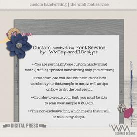 Custom Handwriting Service | By WM[squared]