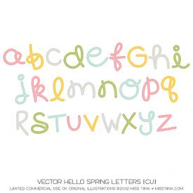 Hello Spring Letters (CU)