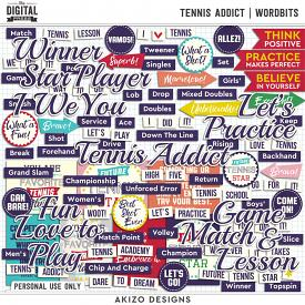Tennis Addict | Wordbits