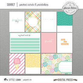 Sorbet | Pocket Cards & Printables